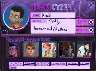 Artfight 2021 Team Cyber!