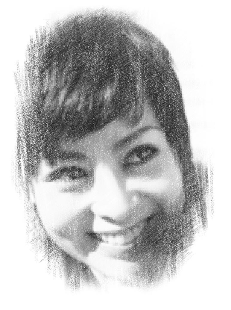 PhotoFunia - Miyuki Kanbe's Pencil Portrait by Dark-Symphonia