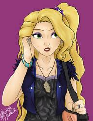 Big Four Punk Au - Rapunzel by Laven96