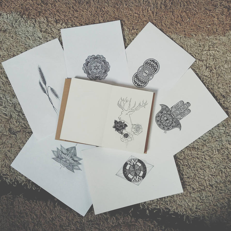 Tattoo sketches by Joan95