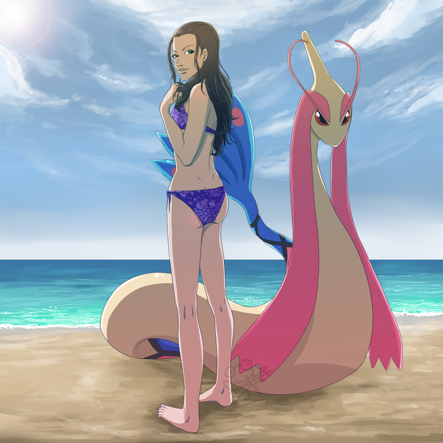 Crossover: Nico Robin and Milotic by Frog-of-Rock