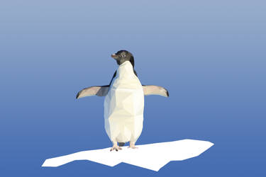 Low-poly-penguin