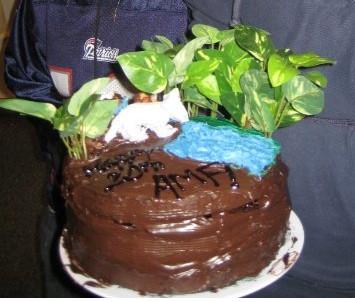 Birthday cake by KittyOnCrack