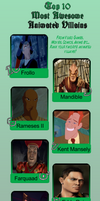 My Top 10 Most Awesome Animated Villains