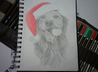 Christmas Puppy by bezzlebez