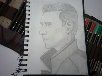 Tom Hiddleston by bezzlebez