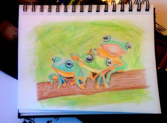 Friendly Frogs by bezzlebez