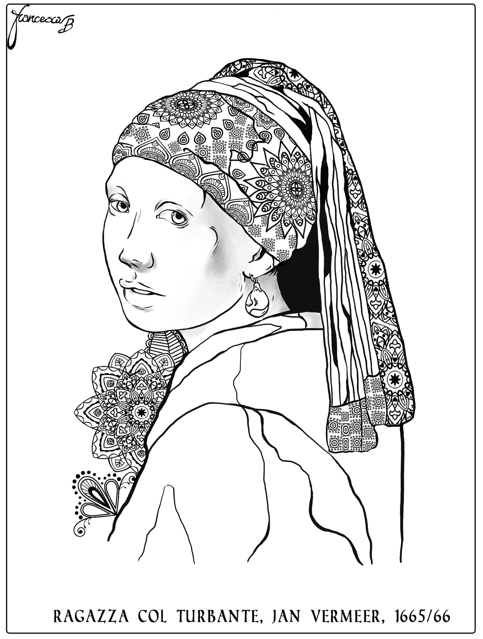 Colora - Ragazza col turbante