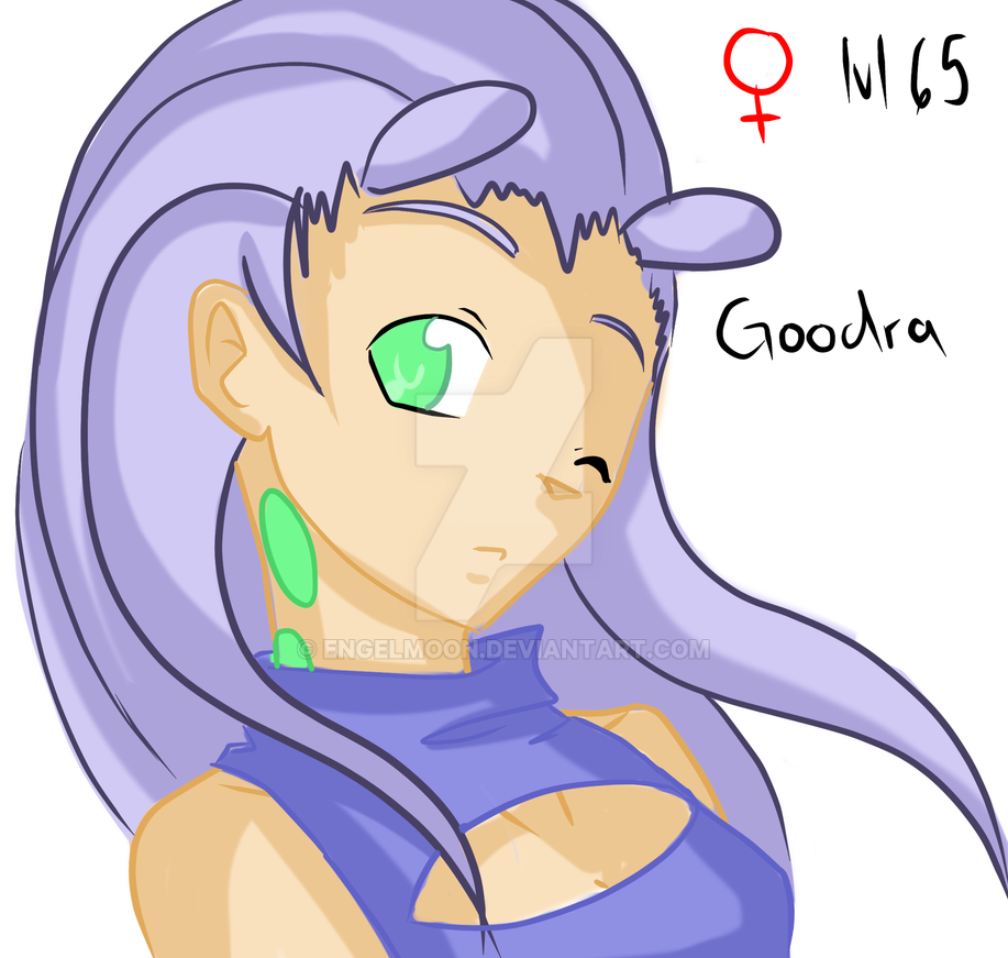 goodra gijinka by engelmoon on deviantart