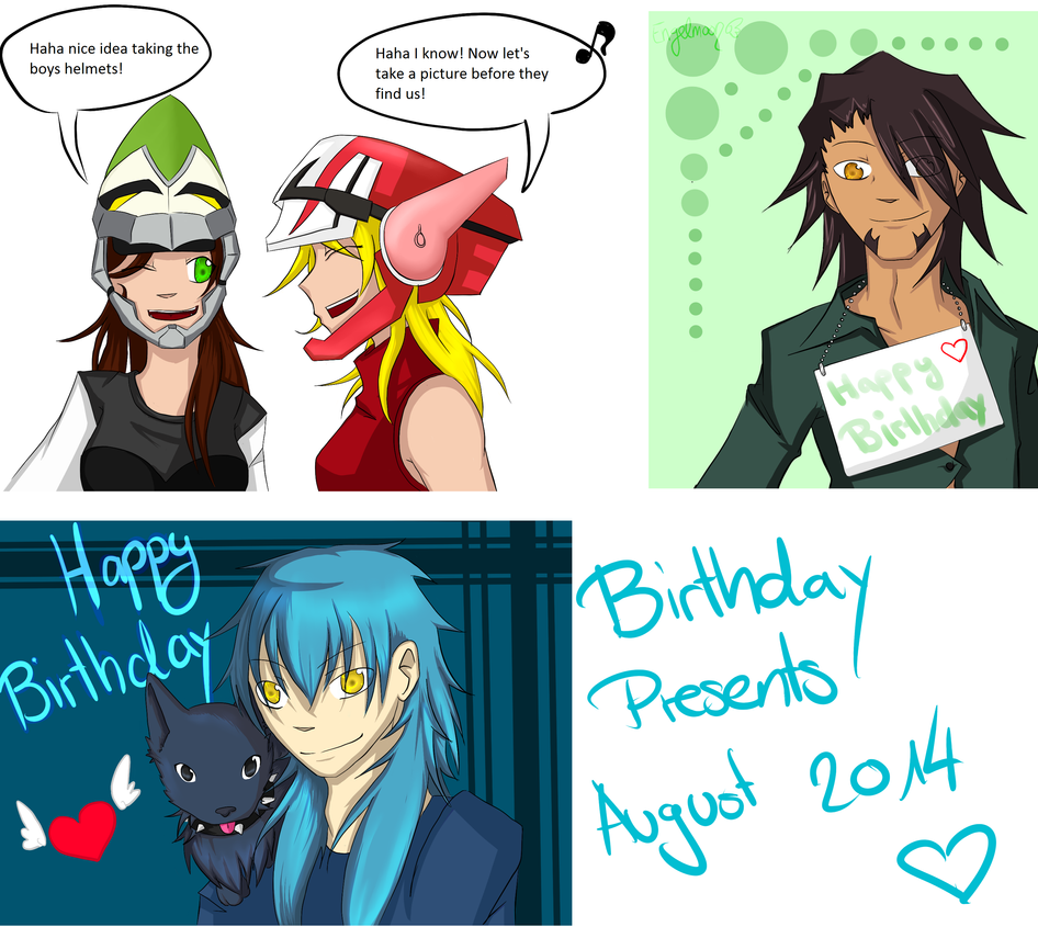 Birthday Presents August 2014 by Engelmoon