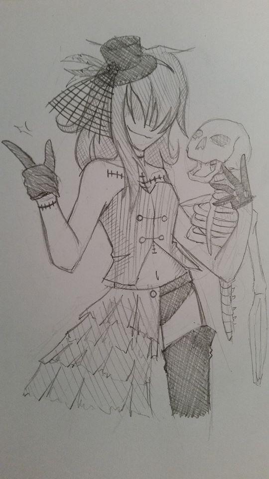 Halloween Tekuno sketch by Engelmoon