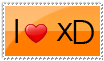 I love xD Stamp by ClioBlack