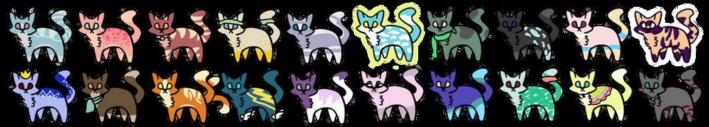 20 Chibi Cat Adopts [Closed] by dawnfire111