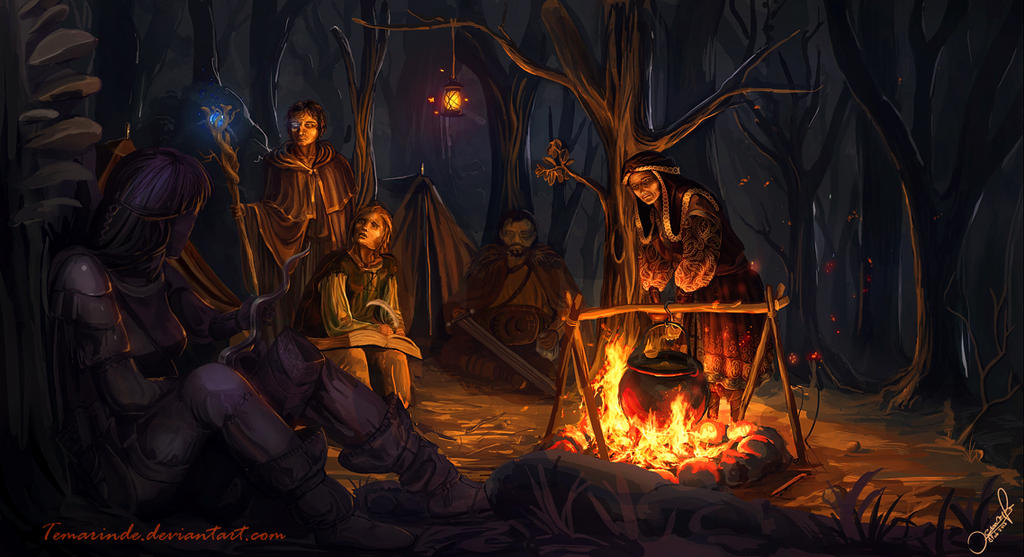 Campfire Art Campfire by temarindeCampfire Painting