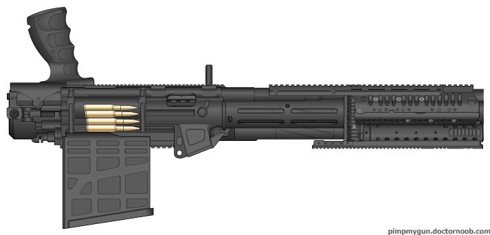 Vulcan Minigun Vulcan barrel minigun by 0-Vulcan Minigun