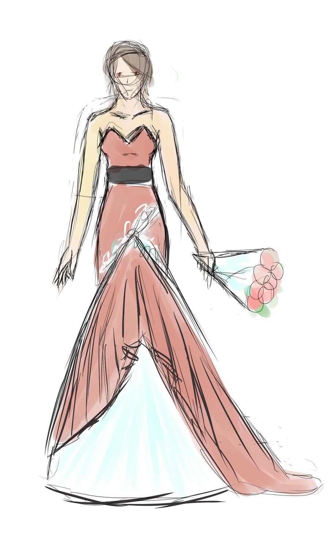 Giacinto Wedding Dress Sketch By Darkeninglight666 On DeviantArt