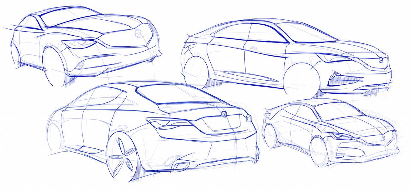 Mazda Sketches by SNDesign