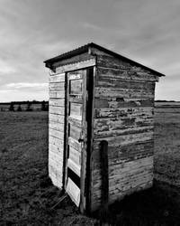 Lonely outhouse  by Divawithguns