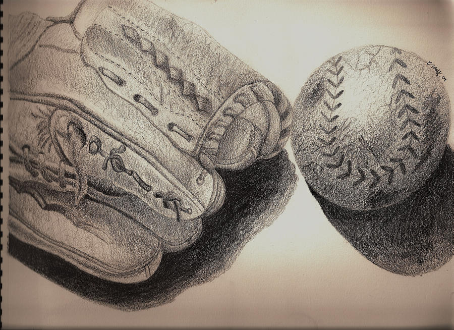 the gallery for gt baseball pencil drawing