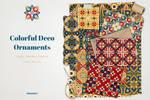 Deco Ornaments Vector Patterns