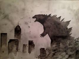Godzilla by SouthernThunderbird