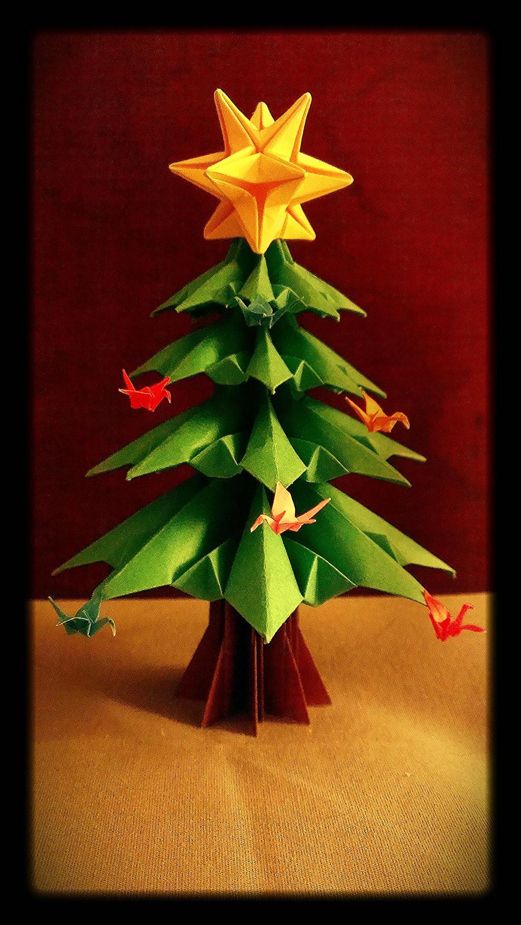 origami christmas tree by origamichemist on deviantart. Black Bedroom Furniture Sets. Home Design Ideas