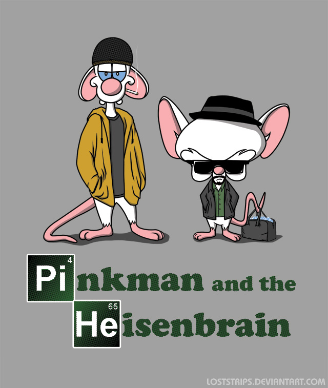 Pinkman and the Heisenbrain by loststrips