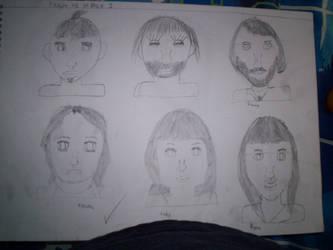Art Sketches 1 by werewolf2993