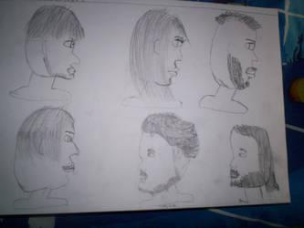 Art Sketches 3 SIDE VIEWS by werewolf2993