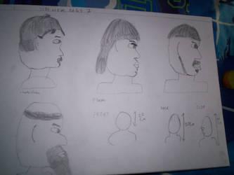 Art Sketches 4 SIDE VIEWS by werewolf2993