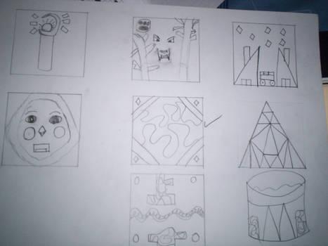 Sketches for Plaster Tile