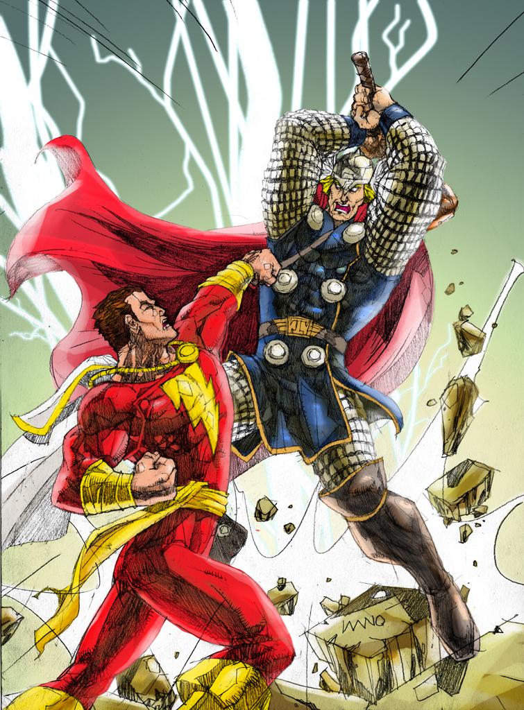 Thor Vs Captain Marvel By Jnano