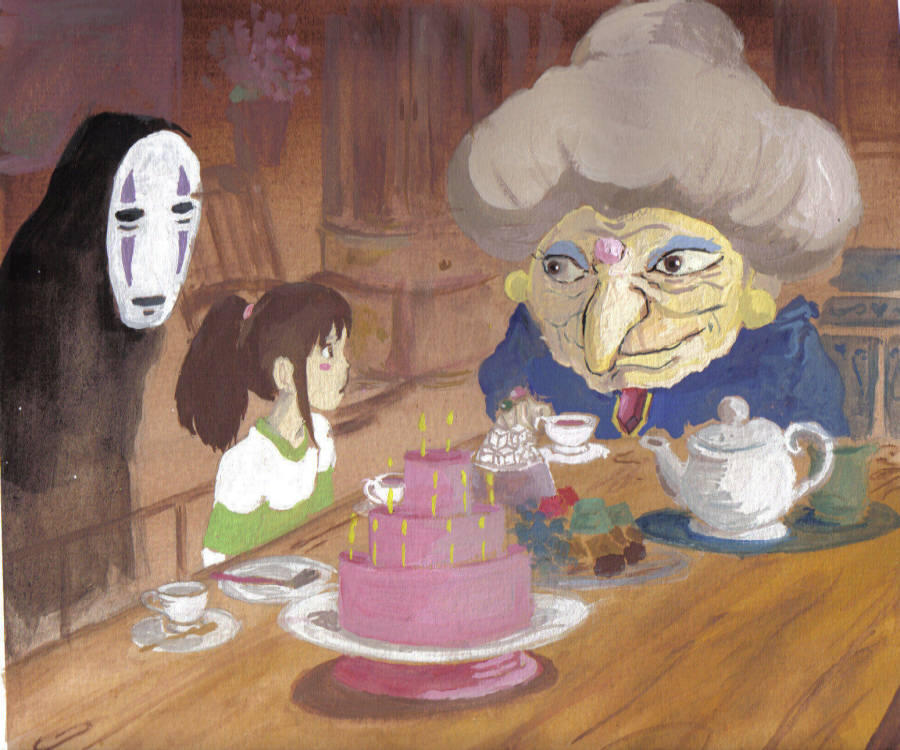 Spirited Away- Visit to Zeneba by kimimaro-21