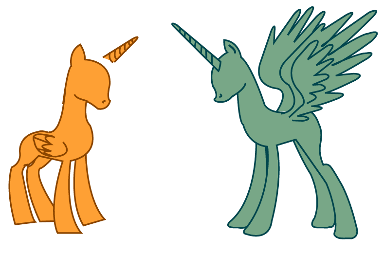 Alicorn Pony Bases By LottaPotatoSalad On DeviantArt