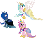 Royal Alicorns' Gala Dresses