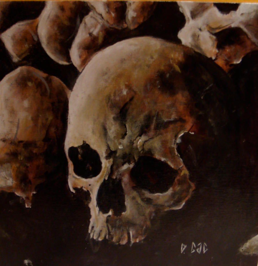 Skull Painting By Musicophilia