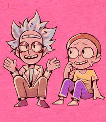 Some cutesy rick and morty garbage