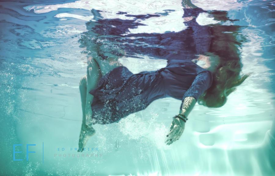 Underwater Silhouette Painting Underwater Painting by Efphoto