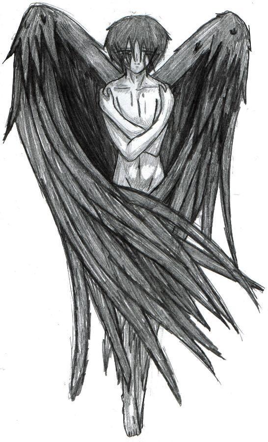 crying naked fantasy angel