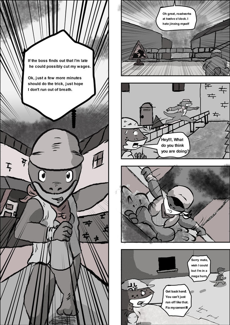 Aqua Lizard Volume 1 Page 3 by Artooinst