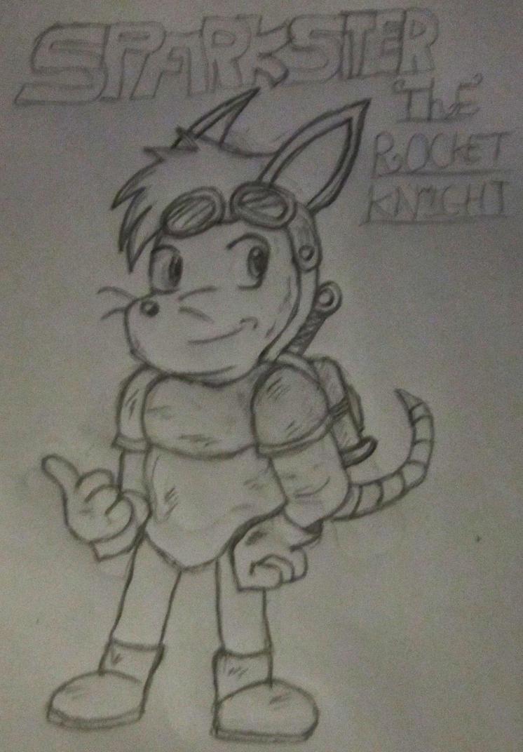 Sparkster the Rocket Knight FanArt by Artooinst