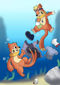 A New Buizel In The Sea