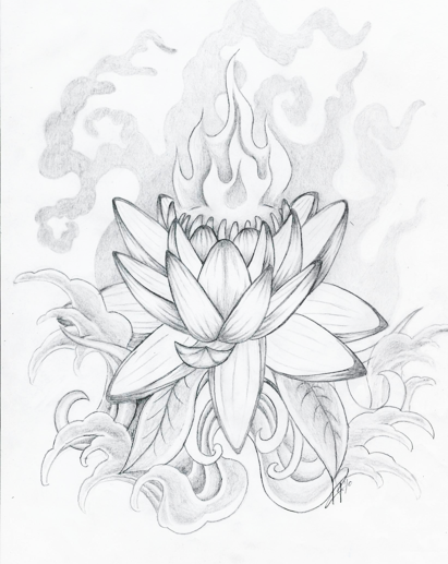 Japanese Lotus Flower Outline | www.imgkid.com - The Image ...