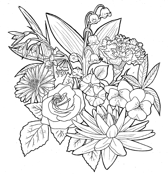 Line Drawing Flower Designs : Flower design by skelos on deviantart