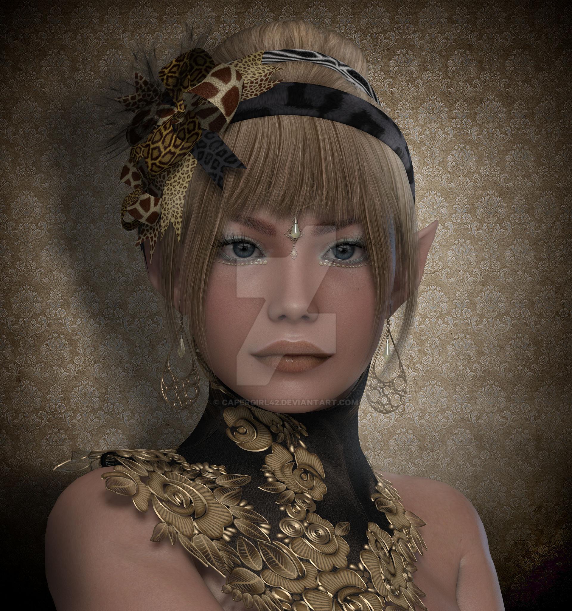 An Beautiful Elf Portrait