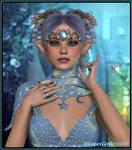 Pretty little blue elf