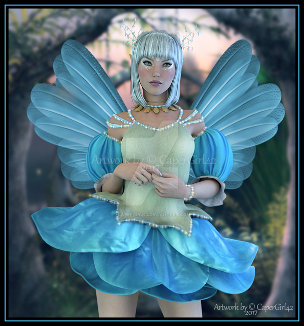 Lil Winter Elf in Blue by CaperGirl42