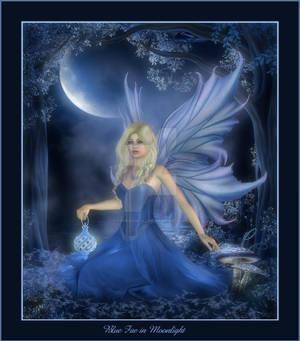 Blue Fae in Moonlight