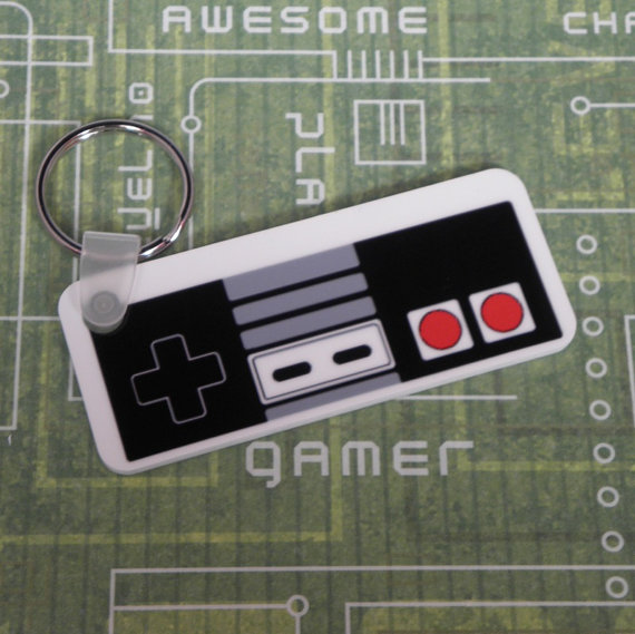 Nintendo NES Controller Keyring by PlayBox-Designs
