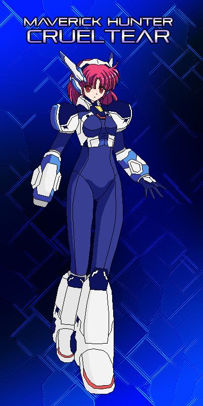 Megaman X9 - Maverick Hunter Crueltear by SturmvogelPrime
